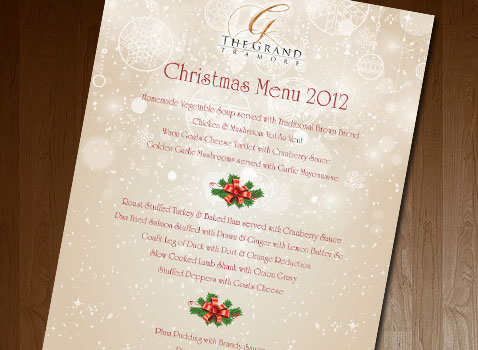 alpha design the grand hotel christmas menu