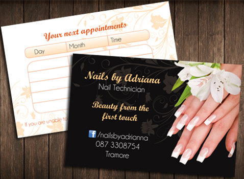 Nails Visit Card Maxicub